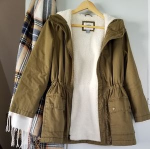 Sherpa lined coat/utility jacket
